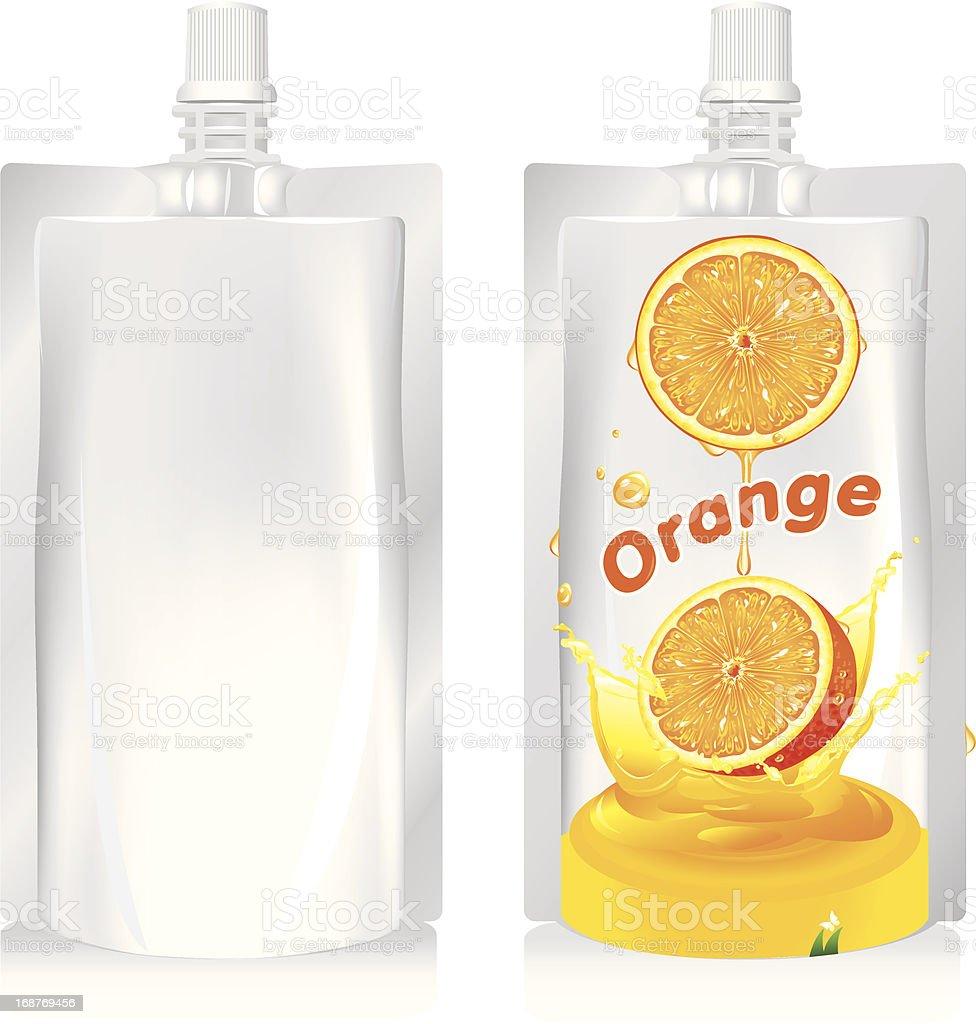 orange juice vector art illustration