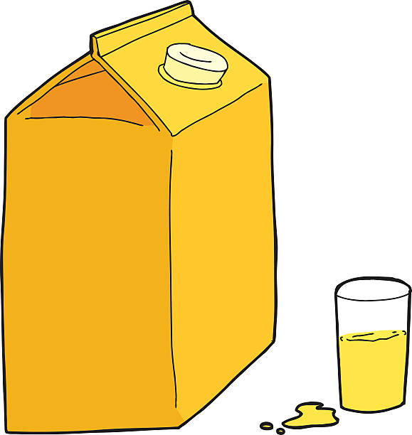 Royalty Free Orange Juice Box Clip Art, Vector Images ...
