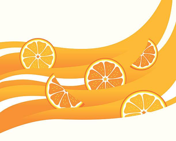 Orange Juice Wave, Highlights or Creamy Milk vector art illustration