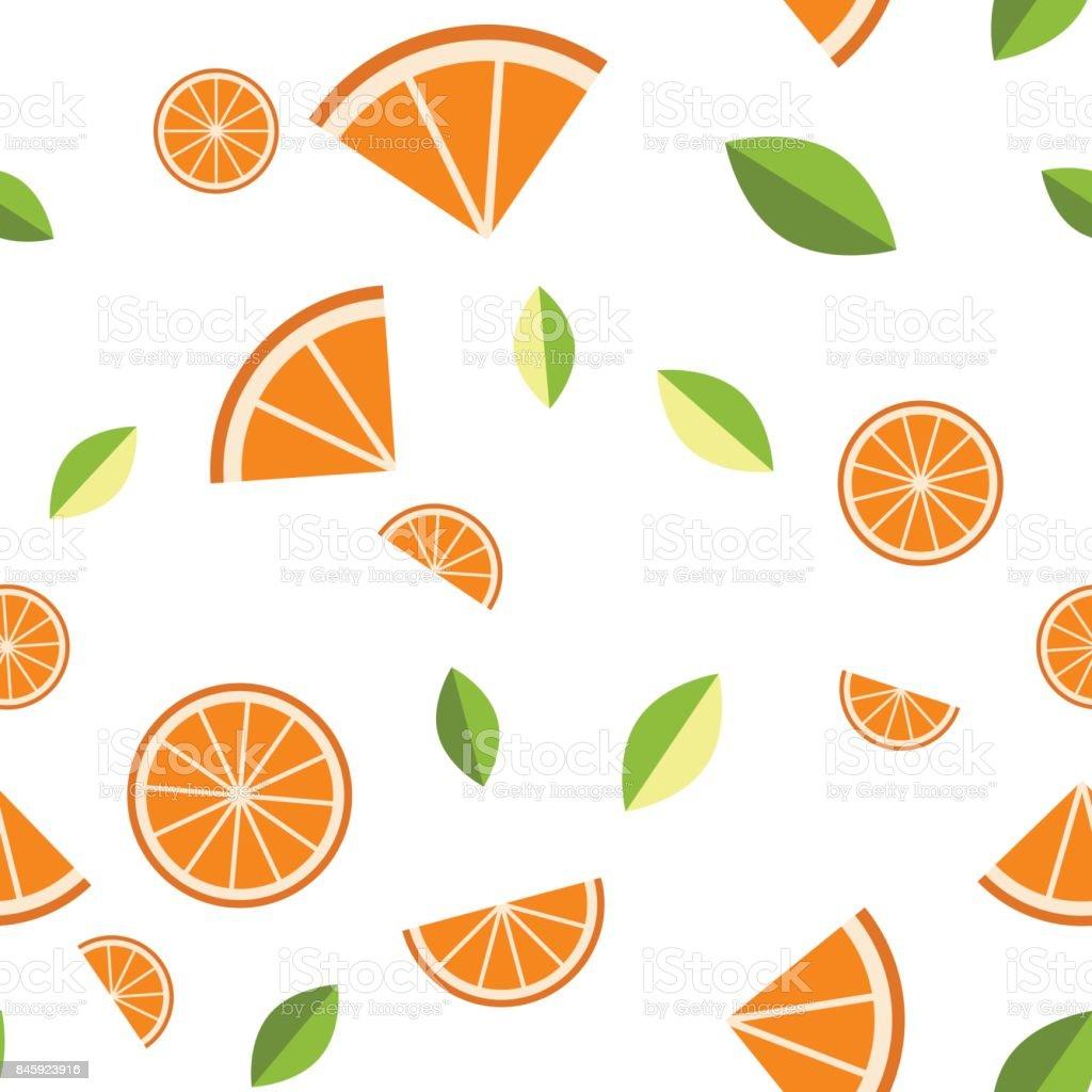 Ilustración de Naranja Limón Sobre Fondo Blanco De Patrones Sin ...