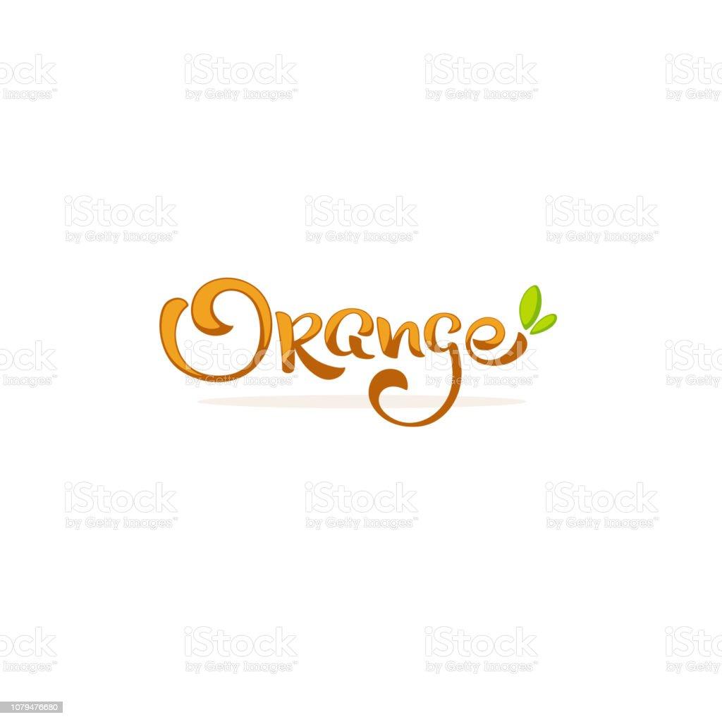 Orange Lettering Composition For Your Citrus Juice Logo