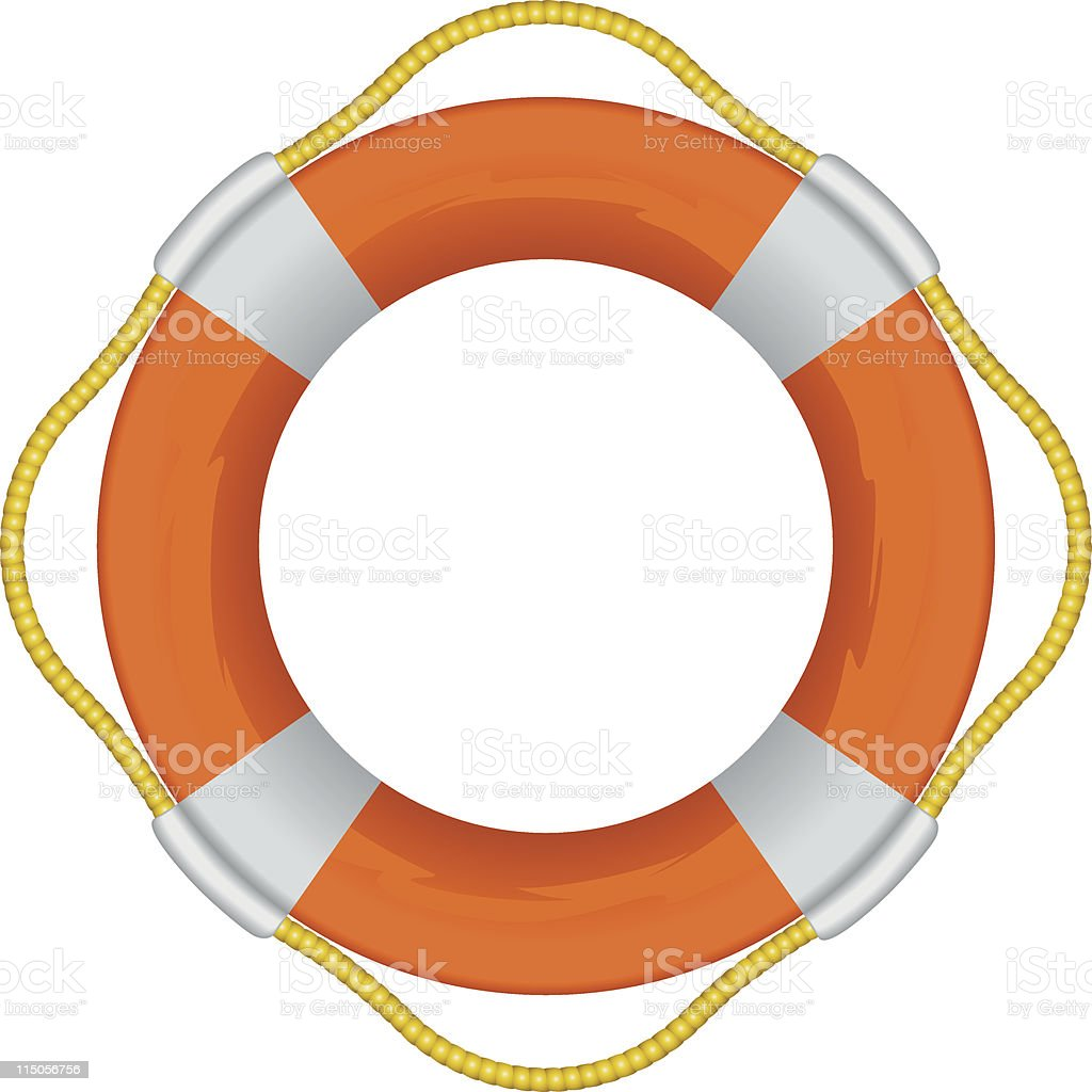 Orange life preserver royalty-free stock vector art