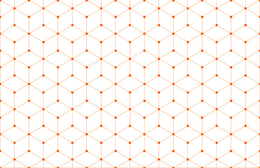 orange line and dot background texture pattern.