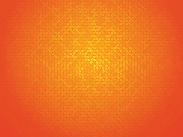 orange linking dots background vector art illustration