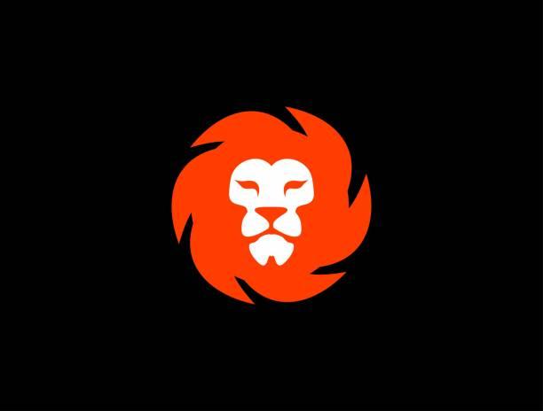 Orange Lion logo Simple and Clean Lion logo lion stock illustrations