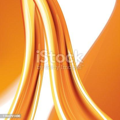 858282944 istock photo Orange liquid splash.Set. Juice background. Honey.Colored liquid. Vector illustration. 1164291496
