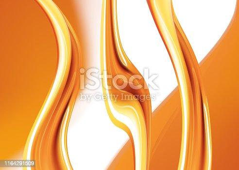 858282944 istock photo Orange liquid splash.Set. Juice background. Honey.Colored liquid. Vector illustration. 1164291509