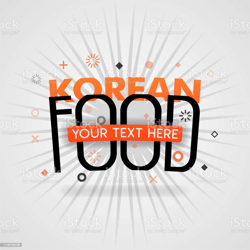 Orange Logo Template For Korean Food For Promotion Advertising Marketing Can Be For Food Application Cover Culinary Logo Food Shop Logo Restaurant Web Cover Cookbook Cooking Dish Book Website Stock Illustration