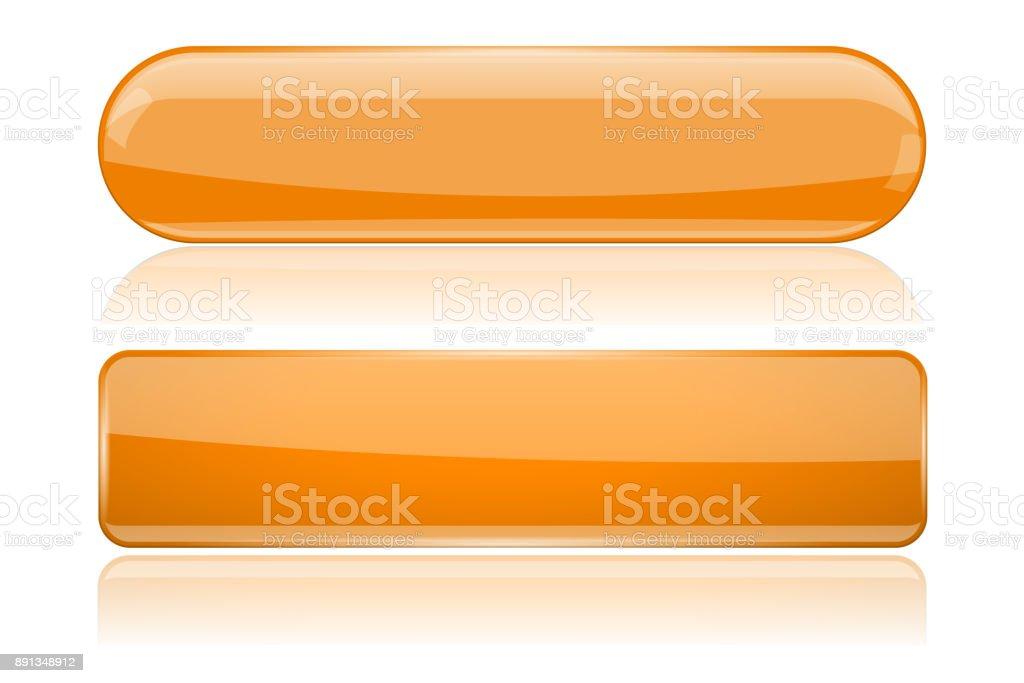 Botones de vidrio largo naranja - ilustración de arte vectorial
