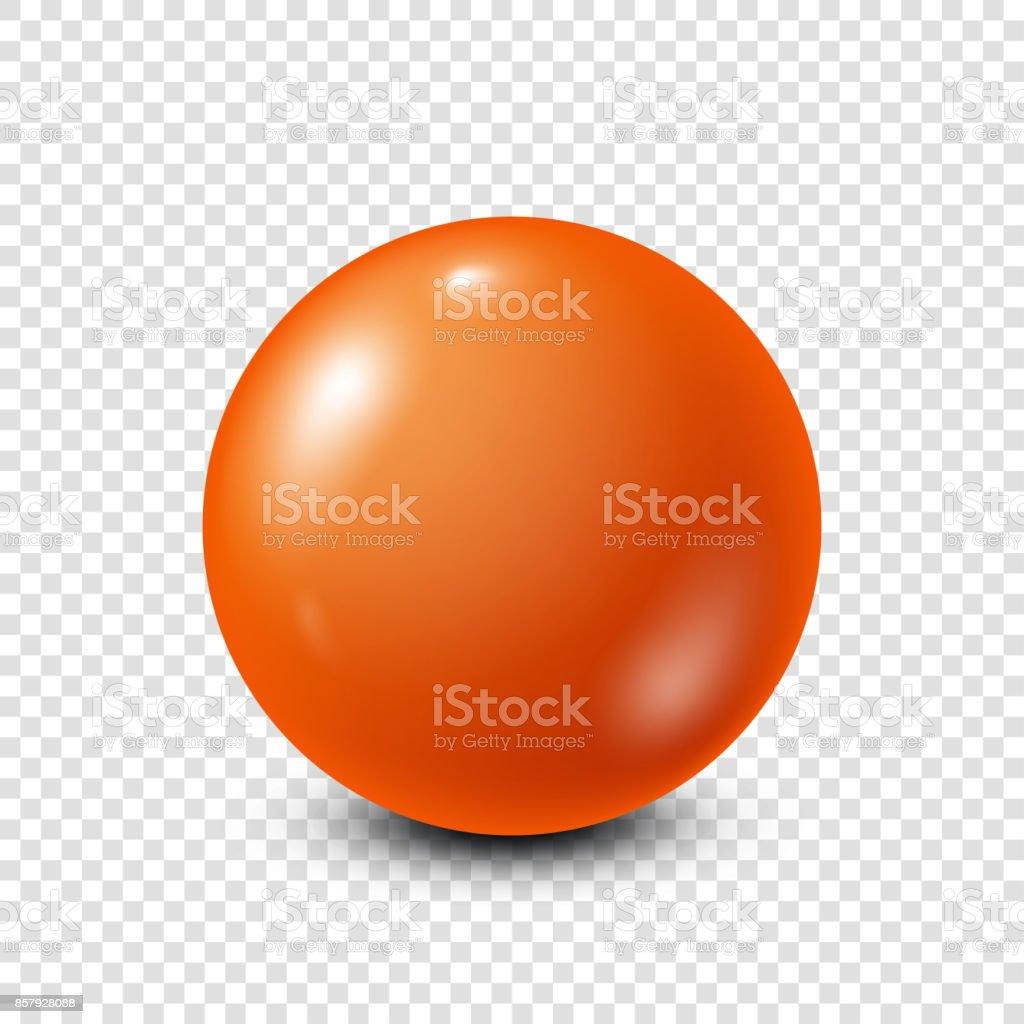 Orange lottery, billiard,pool ball. Snooker. Transparent background. Vector illustration vector art illustration