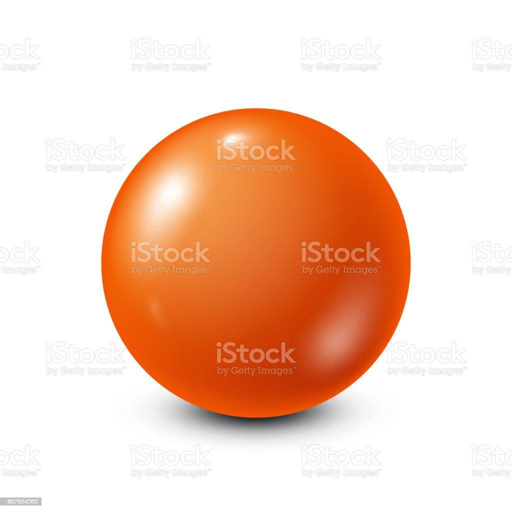 Orange lottery, billiard,pool ball. Snooker. White background. Vector illustration vector art illustration