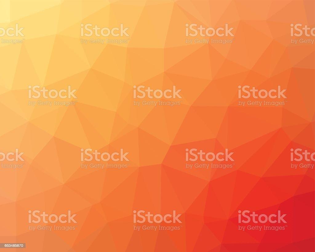 Orange low poly background vector art illustration
