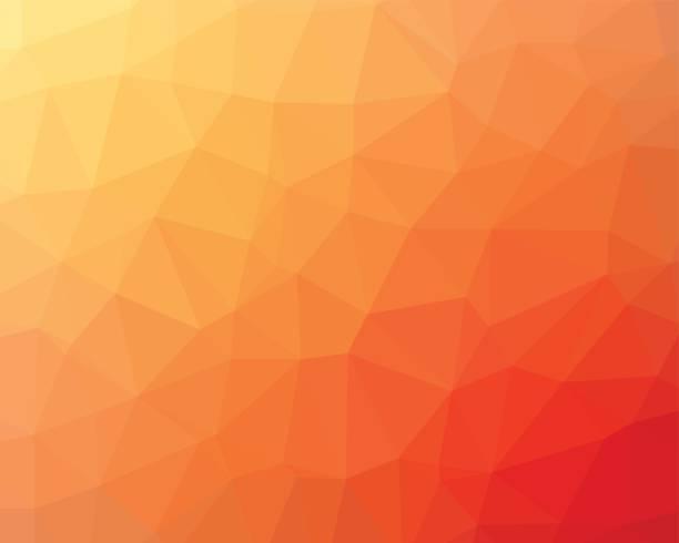 orange low poly-hintergrund - pastellgelb stock-grafiken, -clipart, -cartoons und -symbole