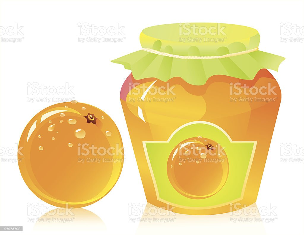 Orange marmalade royalty-free orange marmalade stock vector art & more images of color image