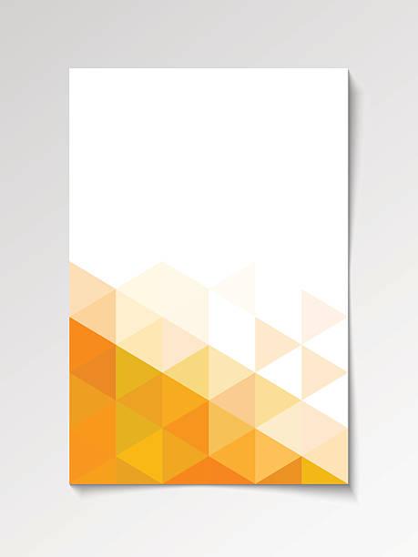 bildbanksillustrationer, clip art samt tecknat material och ikoner med orange modern flyer design template - orange bakgrund