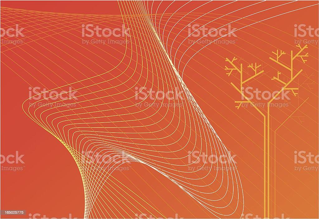 Orange mood hot grow royalty-free stock vector art