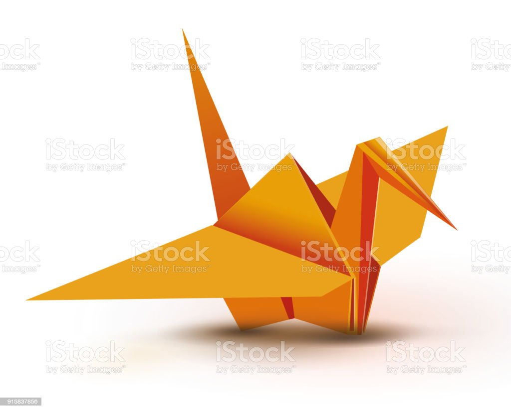 Orange Origami Crane Royalty Free Stock Vector Art Amp More Images