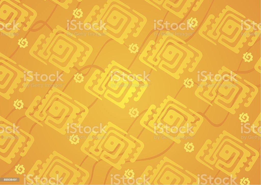 Orange pattern royalty-free stock vector art