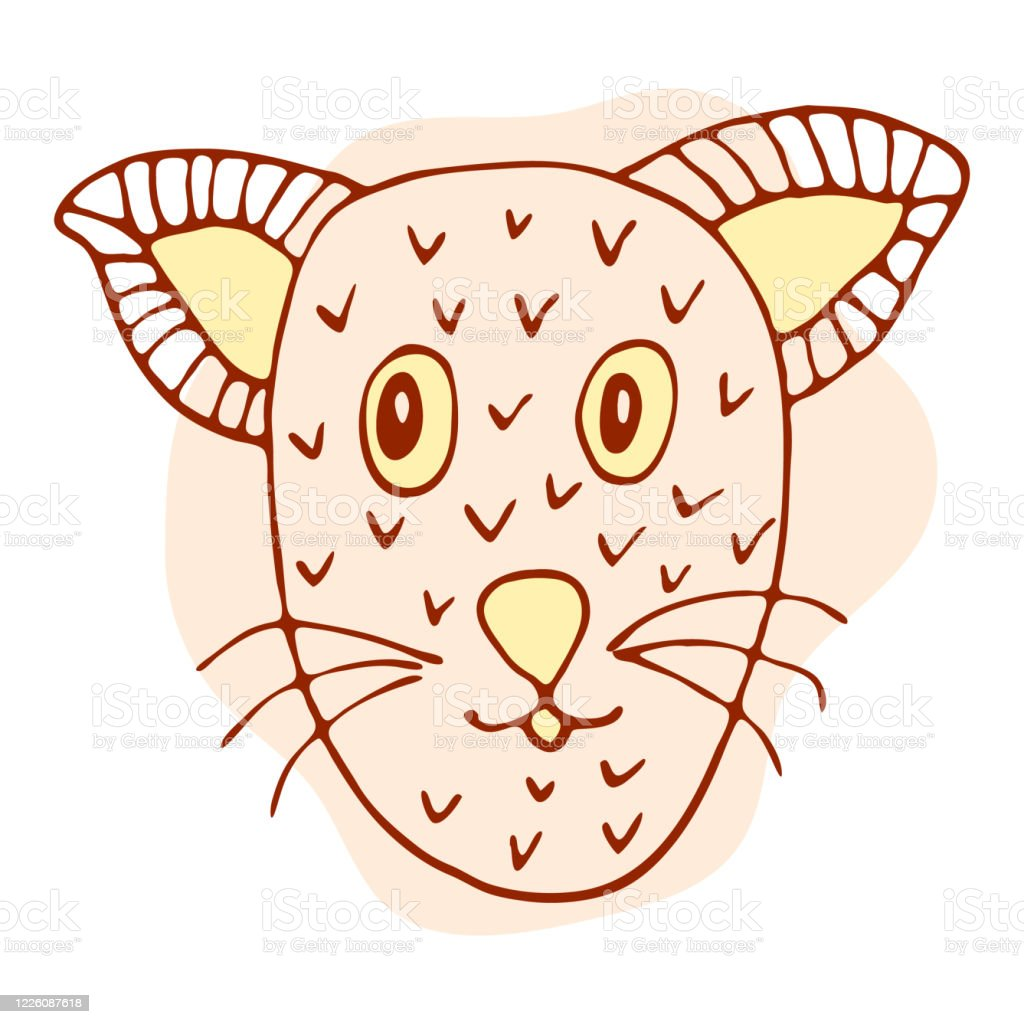 Orange Pink Cat In Doodle Style Isolated On White Background Vector Stock Illustration Hand Drawing Line Art Image Design Concept For Cat Cafe Children Print Stock Illustration Download Image Now Istock