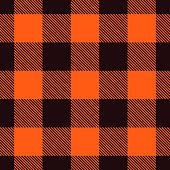 Seamless orange plaid background.