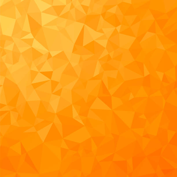 Orange Polygonal Background. Triangular Pattern. Low Poly Texture. Abstract Mosaic Modern Design. Origami Style vector art illustration