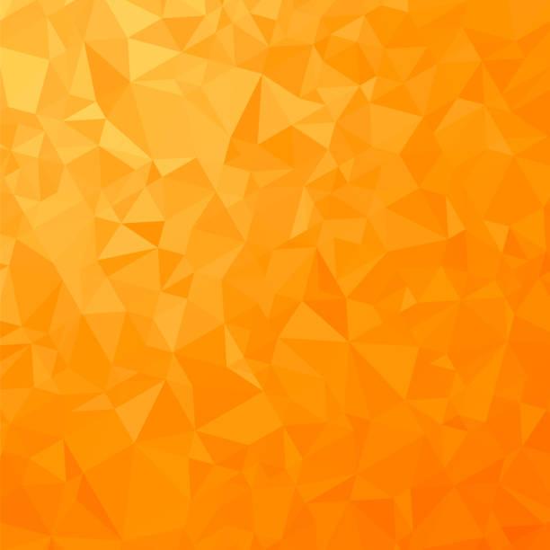 オレンジ色の多角形の背景。三角形のパターン。低ポリゴンのテクスチャです。抽象的なモザイクのモダンなデザイン。折り紙のスタイル ベクターアートイラスト