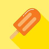 istock Orange Popsicle Icon 1279385272