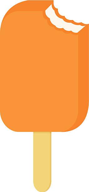Orange Popsicle vector art illustration