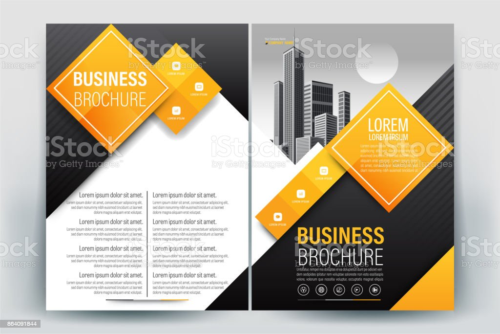 Orange Poster Brochure Flyer design Layout background vector template A4 royalty-free orange poster brochure flyer design layout background vector template a4 stock vector art & more images of advertisement