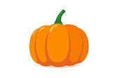 istock Orange pumpkin. Autumn halloween vegetable flat graphic icon isolated on white background. Vector illustration 1167853935