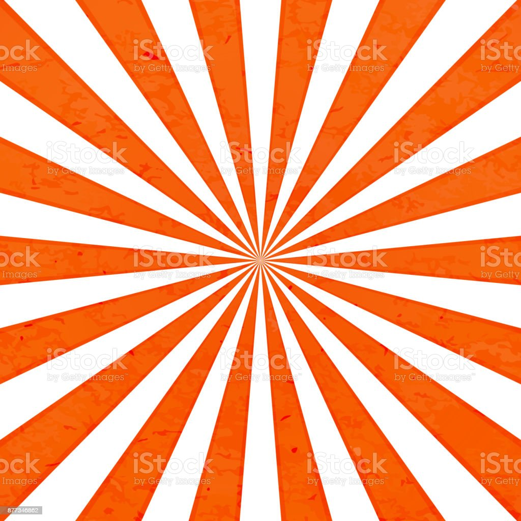 Orange rays background vector art illustration