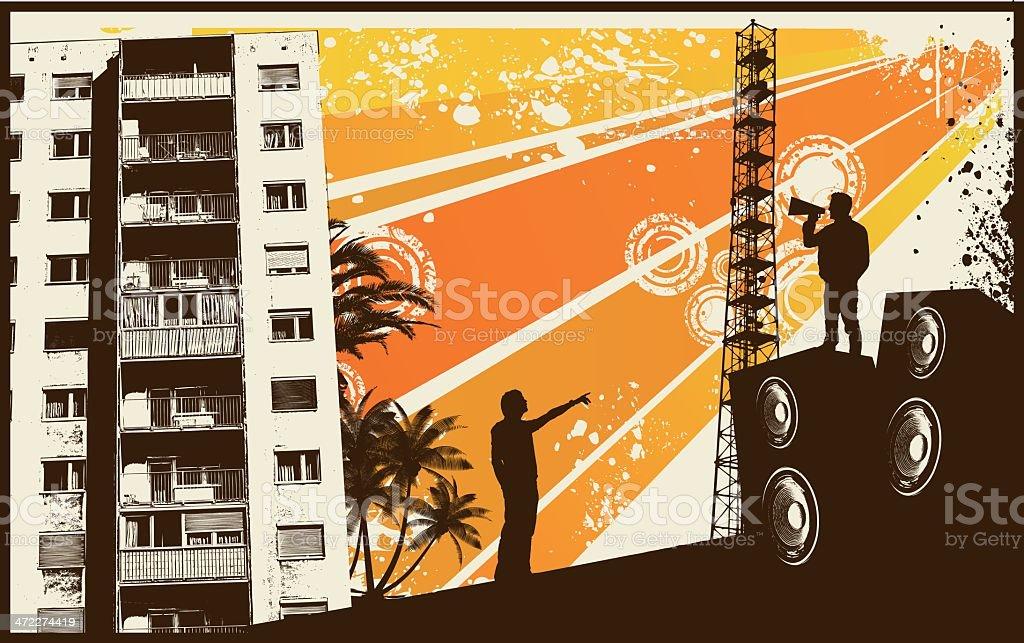 Orange Retro City royalty-free orange retro city stock vector art & more images of abstract