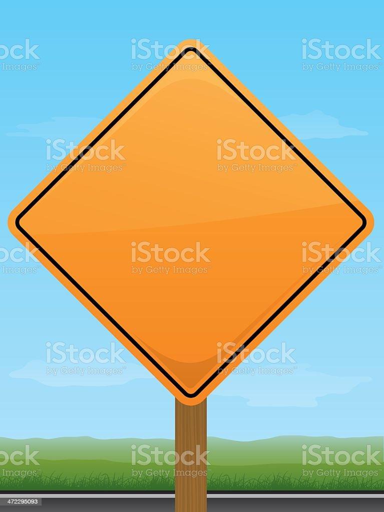 Orange Road Construction Sign royalty-free stock vector art