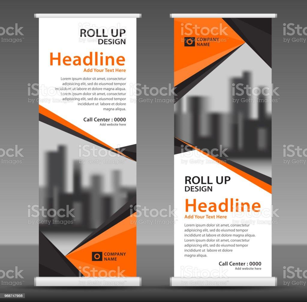 オレンジはバナー テンプレート垂直バナー デザインポスター広告