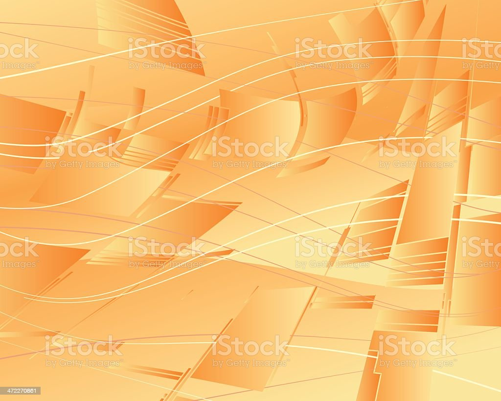 Orange Sails royalty-free stock vector art