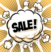 drawn of vector orange exploding sale.This file has been used illustrator cs3 EPS10 version feature of multiply.