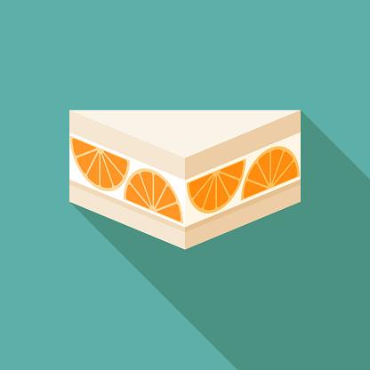 Orange Sando Japanese Konbini Sandwich Icon