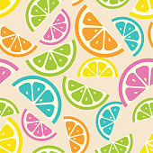 Vector orange seamless pattern .