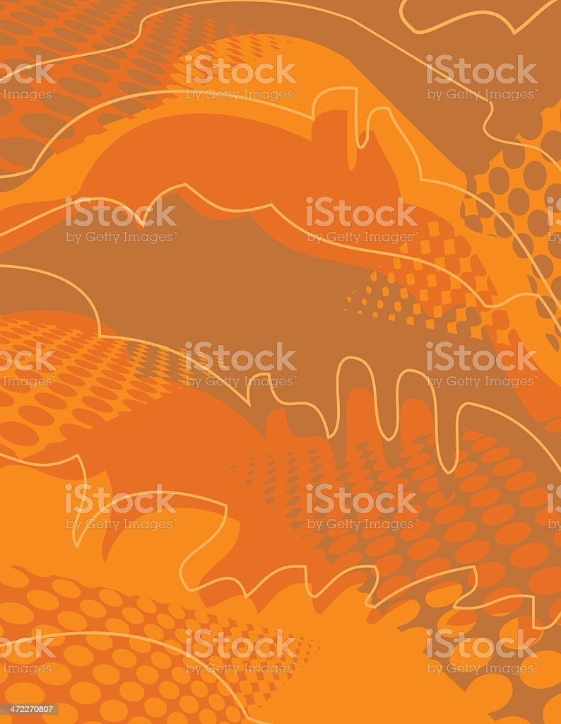 Orange Shazaam royalty-free stock vector art