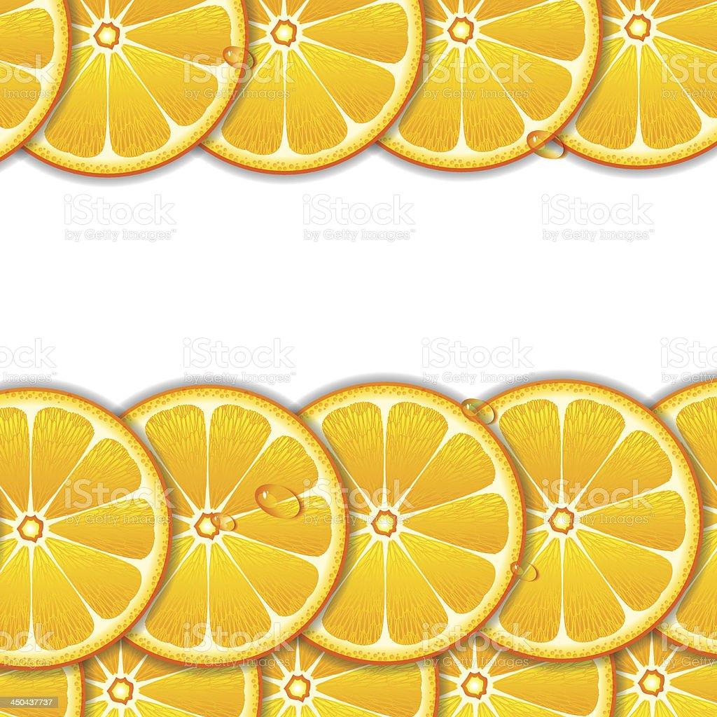 Orange slices background royalty-free stock vector art