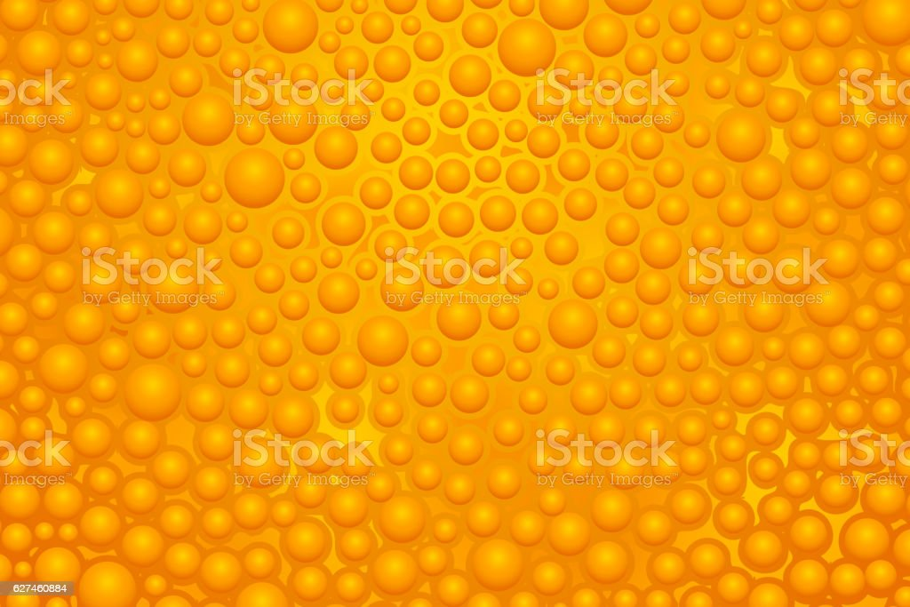 orange slime 02 vector art illustration