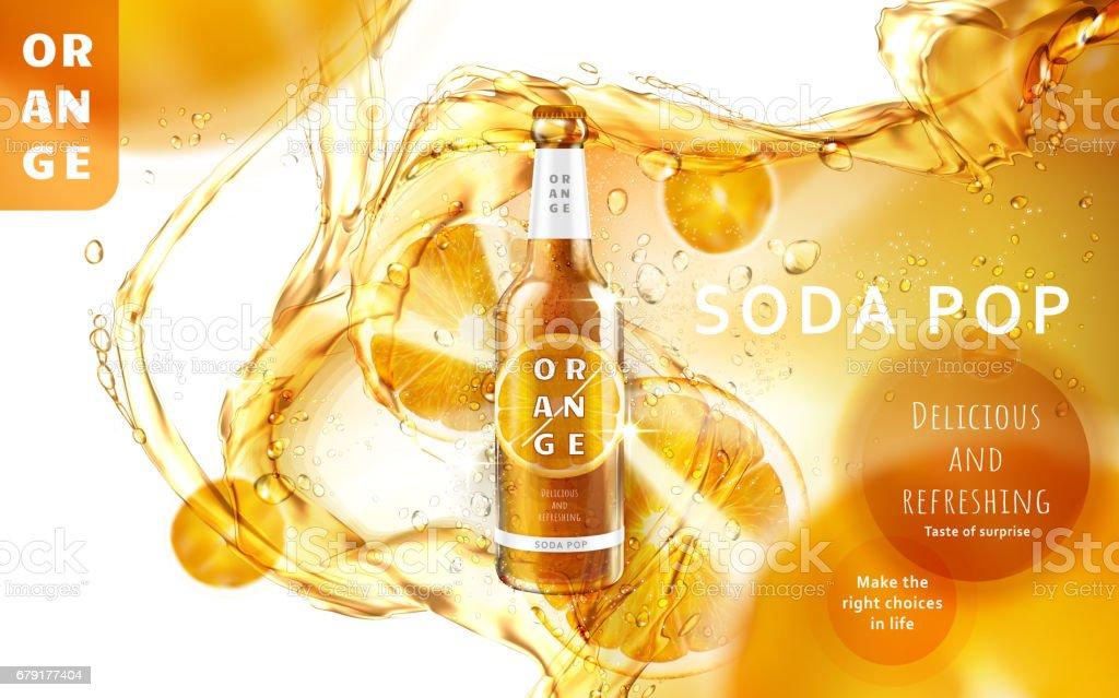 orange soda pop ad orange soda pop ad - arte vetorial de stock e mais imagens de alívio royalty-free