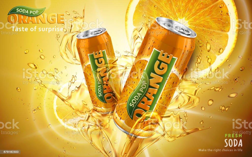 annonce orange soda pop annonce orange soda pop – cliparts vectoriels et plus d'images de affaires finance et industrie libre de droits