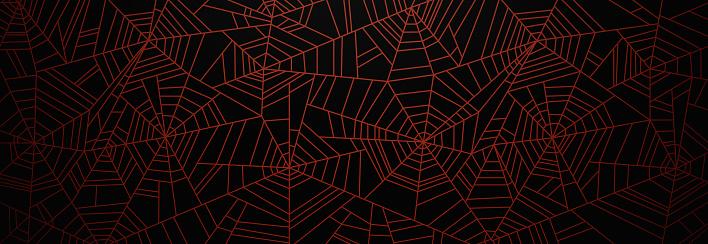 Orange Spider Web Background