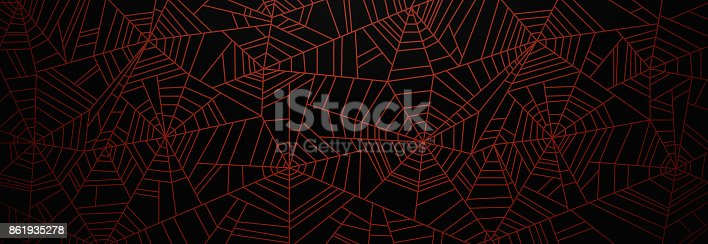 istock Orange Spider Web Background 861935278