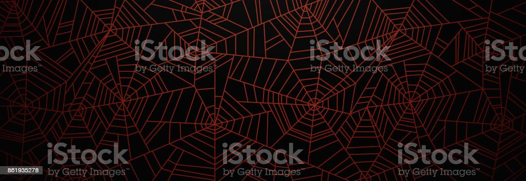 Orange Spider Web-Hintergrund – Vektorgrafik