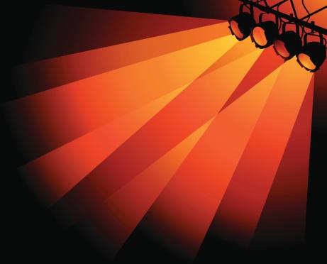 Orange Stage Lights