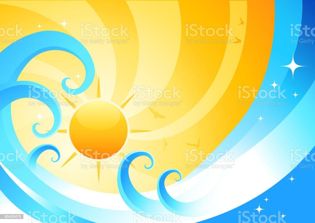 Orange Summer Juice royalty-free stock vector art