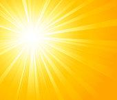 Orange summer sun light burst