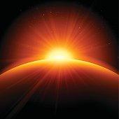 istock Orange Sunrise Sunset Abstract Background 491627974